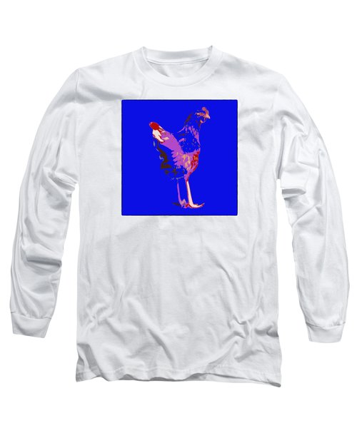 Chicken With Tall Legs Long Sleeve T-Shirt by James Bethanis
