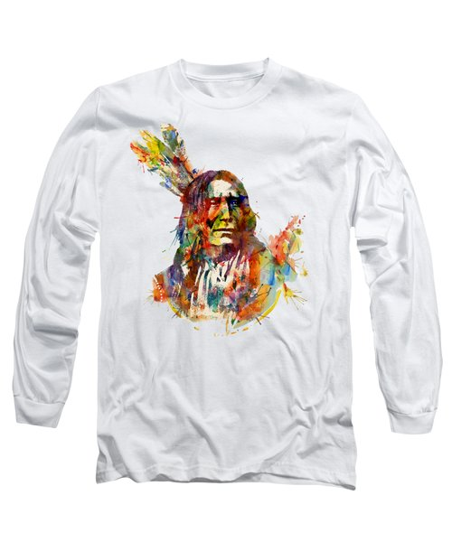 Chief Mojo Watercolor Long Sleeve T-Shirt