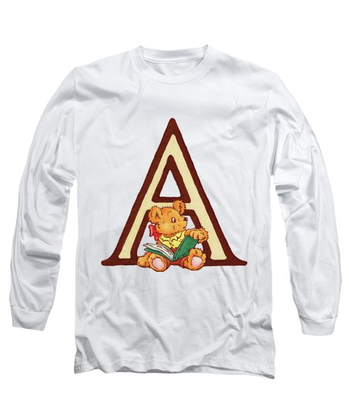 Children's Letter A Long Sleeve T-Shirt by Andrea Richardson
