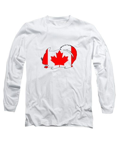 Chinchilla Canada Long Sleeve T-Shirt by Mordax Furittus