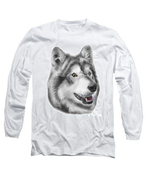 Long Sleeve T-Shirt featuring the drawing Chinook by Peter Piatt