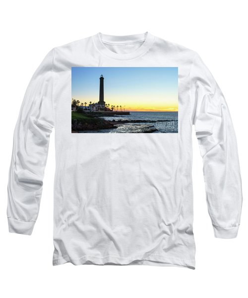 Chipiona Lighthouse Cadiz Spain Long Sleeve T-Shirt by Pablo Avanzini