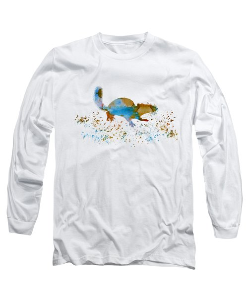Chipmunk Long Sleeve T-Shirt by Mordax Furittus