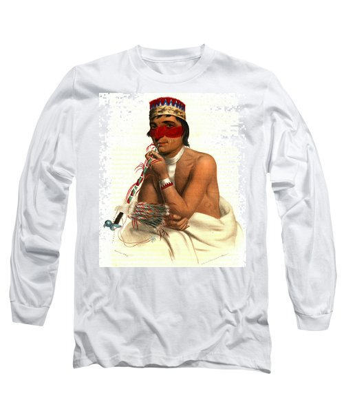 Long Sleeve T-Shirt featuring the photograph Chippeway Chief 1836 by Padre Art