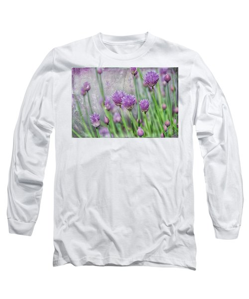Chives In Texture Long Sleeve T-Shirt