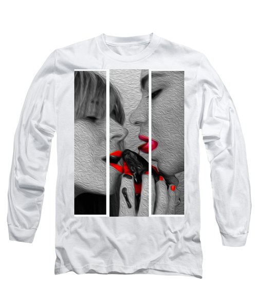 Chocolate Kiss-tryptych Long Sleeve T-Shirt