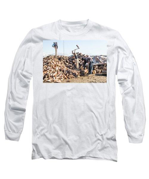 Chopping Wood Long Sleeve T-Shirt