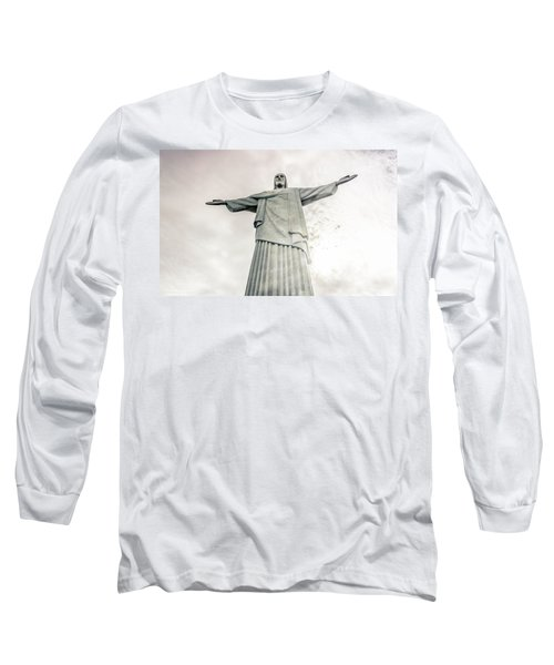 Christ The Redeemer Long Sleeve T-Shirt by Andrew Matwijec