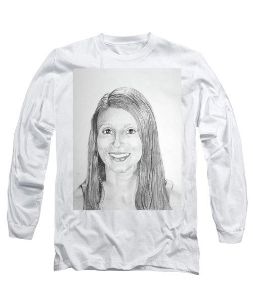 Long Sleeve T-Shirt featuring the drawing Christina by Mayhem Mediums