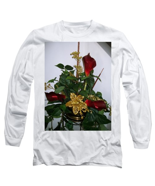 Christmas Arrangemant Long Sleeve T-Shirt by Sharon Duguay