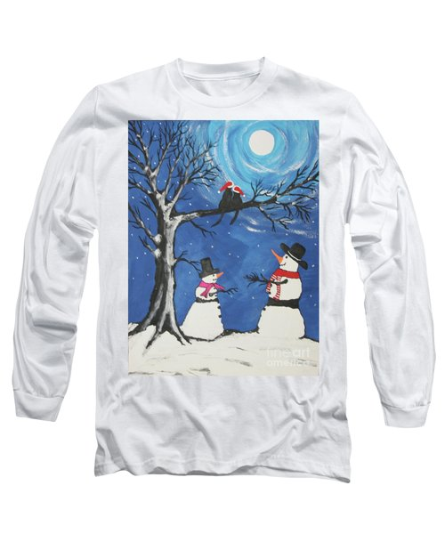 Christmas Cats In Love Long Sleeve T-Shirt by Jeffrey Koss