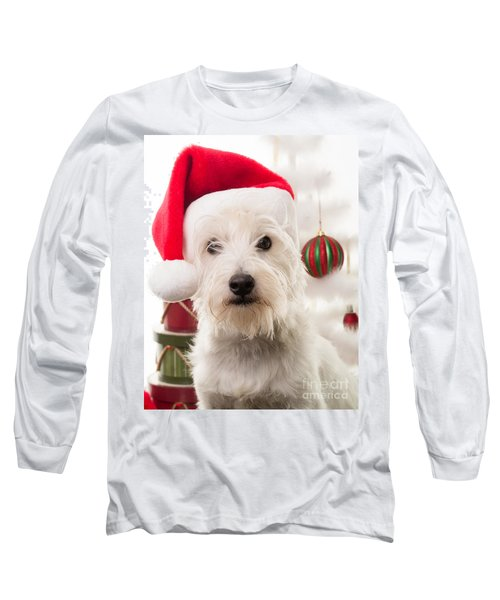 Christmas Elf Dog Long Sleeve T-Shirt