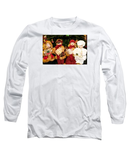 Christmas Quartet Long Sleeve T-Shirt by Vinnie Oakes