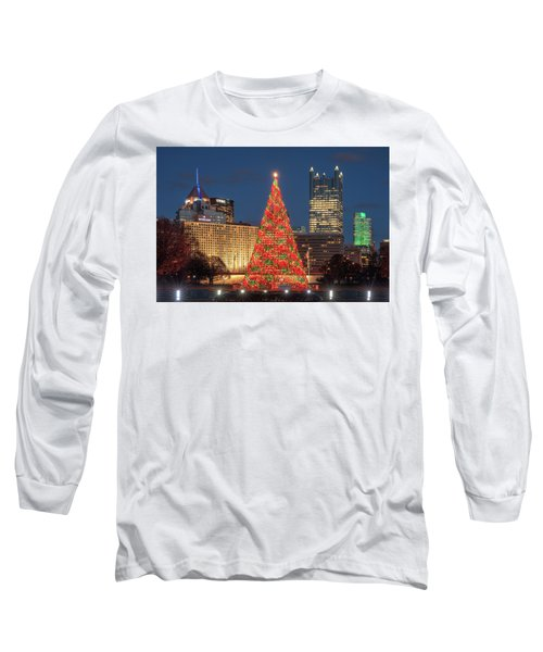 Long Sleeve T-Shirt featuring the photograph Christmas  Season In Pittsburgh  by Emmanuel Panagiotakis