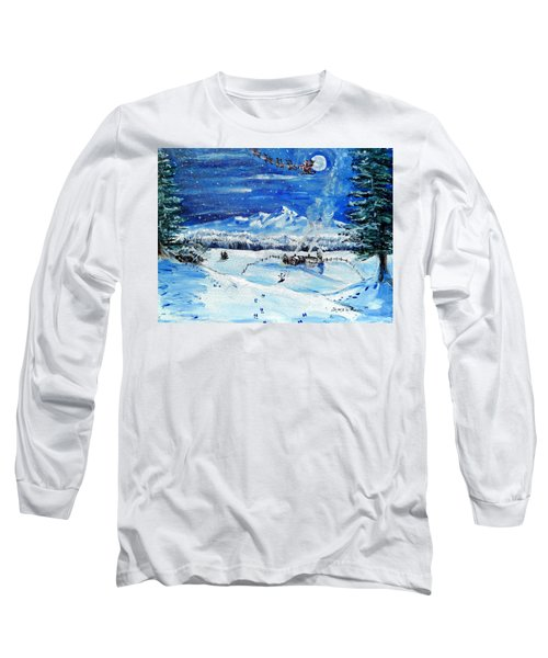 Long Sleeve T-Shirt featuring the painting Christmas Wonderland by Shana Rowe Jackson