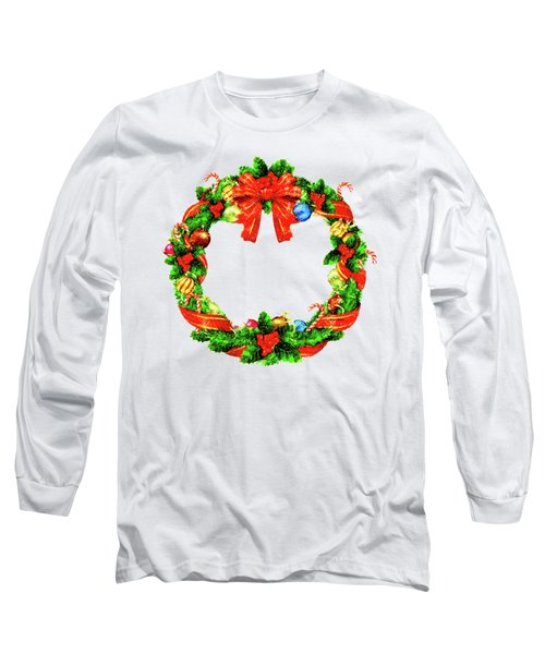 Christmas Wreath Long Sleeve T-Shirt