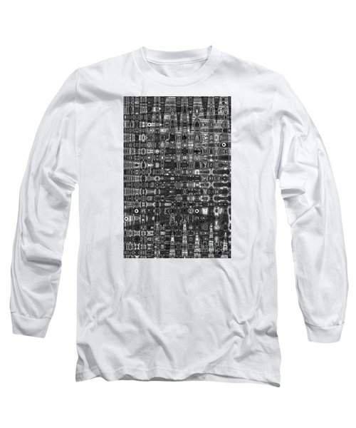 Long Sleeve T-Shirt featuring the photograph Chromosome 22 Bw by Diane E Berry
