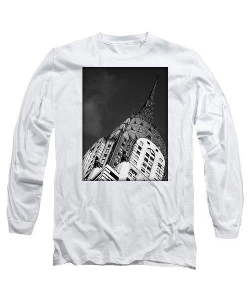 Chrysler Building's Apex Long Sleeve T-Shirt by James Aiken