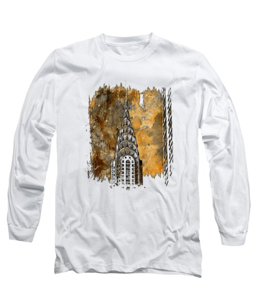 Chrysler Spire Earthy 3 Dimensional Long Sleeve T-Shirt by Di Designs