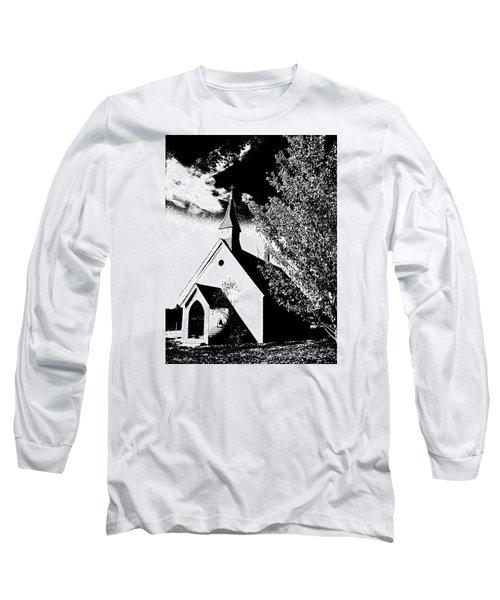 Church In Shadows Long Sleeve T-Shirt