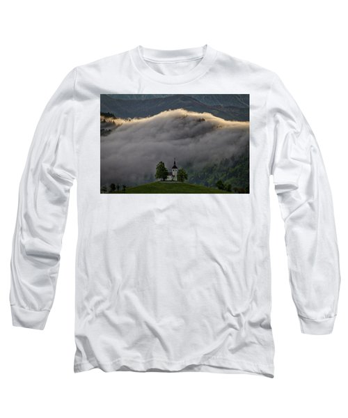 Long Sleeve T-Shirt featuring the photograph Church Of St. Thomas - Slovenia by Stuart Litoff