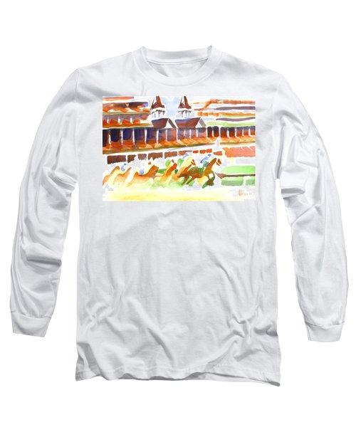 Churchill Downs Watercolor Long Sleeve T-Shirt