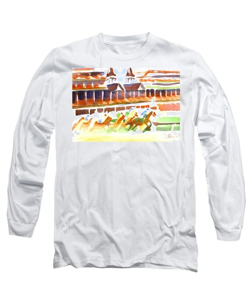 Churchill Downs Watercolor Long Sleeve T-Shirt
