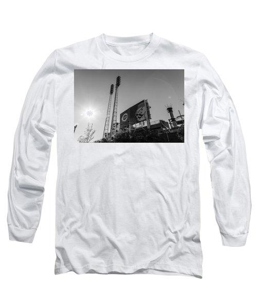 Cincinnati Reds Riverfront Stadium Black And White  Long Sleeve T-Shirt