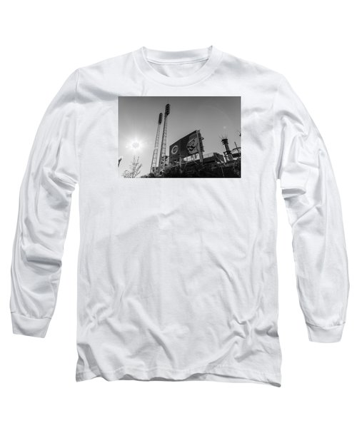 Cincinnati Reds Riverfront Stadium Black And White  Long Sleeve T-Shirt