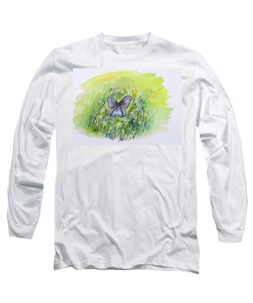 Cindy's Butterfly Long Sleeve T-Shirt by Clyde J Kell