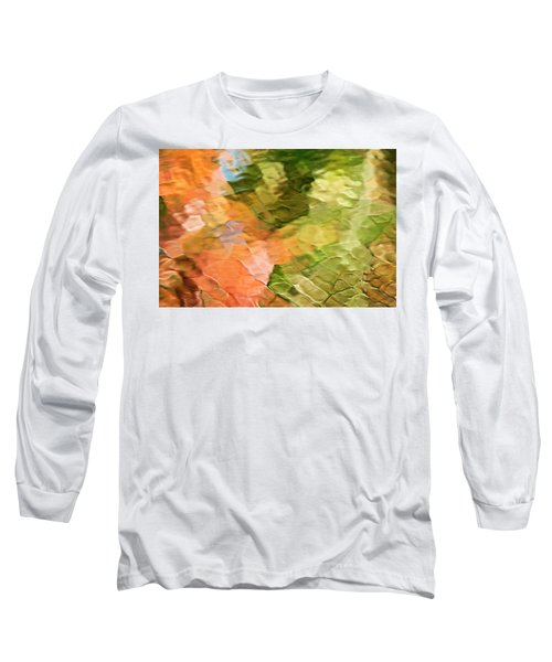 Cinnamon And Spice Mosaic Abstract Long Sleeve T-Shirt