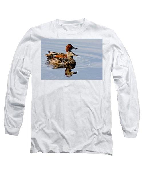Cinnamon Teal Pair Long Sleeve T-Shirt