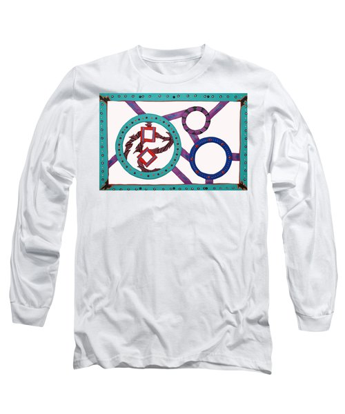 Long Sleeve T-Shirt featuring the mixed media Circle Time by Robert Margetts