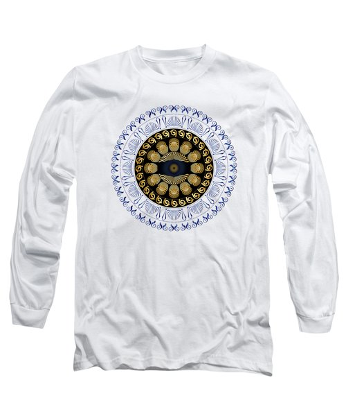 Circularium No 2638 Long Sleeve T-Shirt by Alan Bennington