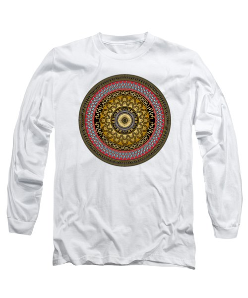 Circularium No. 2644 Long Sleeve T-Shirt by Alan Bennington