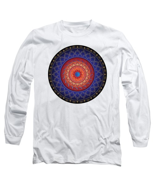 Circularium No 2654 Long Sleeve T-Shirt by Alan Bennington