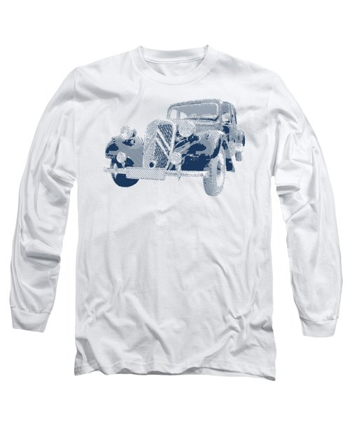 Citroen Traction Avant  - Parallel Hatching Long Sleeve T-Shirt