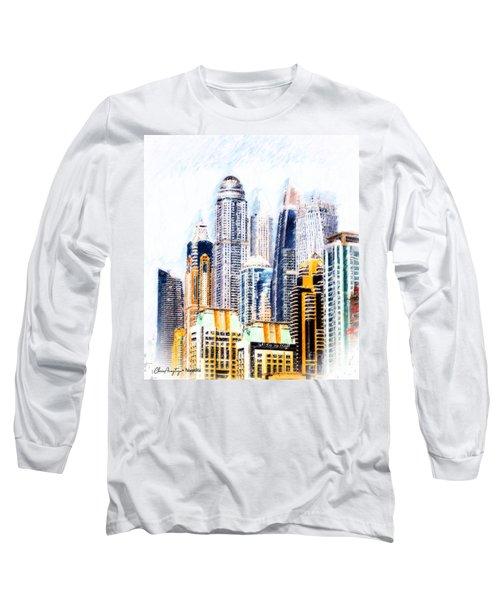 City Abstract Long Sleeve T-Shirt
