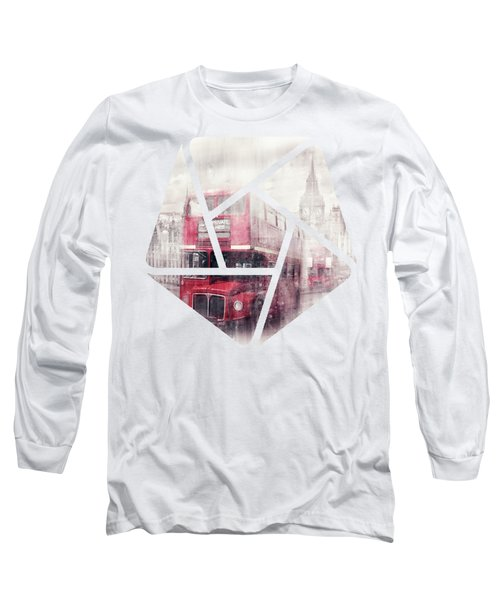 City-art London Westminster Collage II Long Sleeve T-Shirt by Melanie Viola