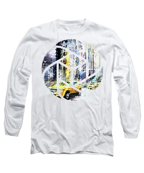 City-art Times Square Streetscene Long Sleeve T-Shirt by Melanie Viola