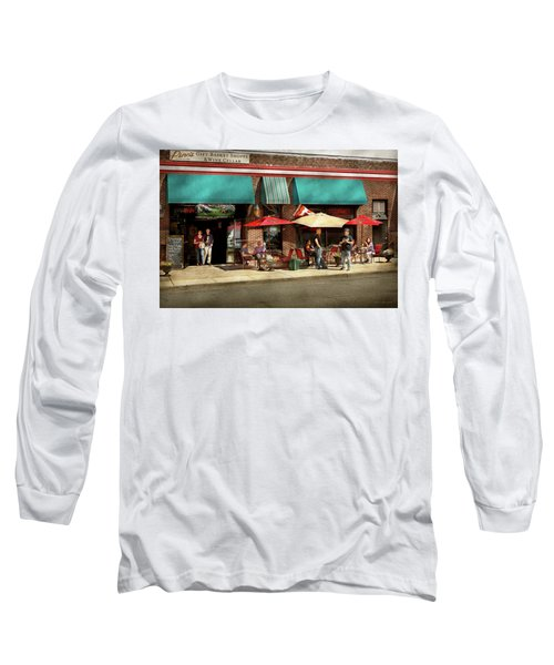 Long Sleeve T-Shirt featuring the photograph City - Edison Nj - Pino's Basket Shop by Mike Savad