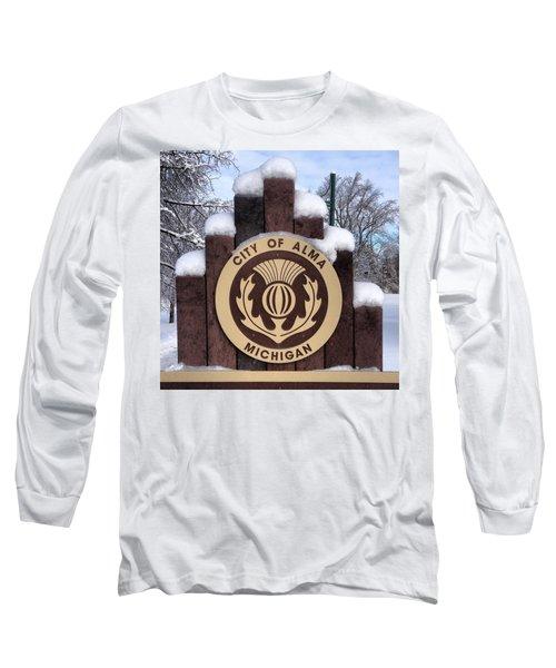 City Of Alma Michigan Snow Long Sleeve T-Shirt