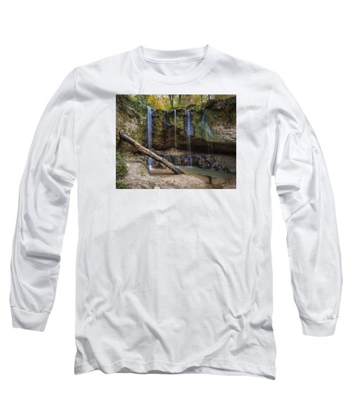 Long Sleeve T-Shirt featuring the photograph Clark Creek Waterfall No. 1 by Andy Crawford
