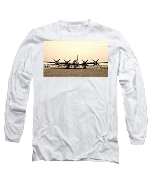 Classic B-29 Bomber Aircraft Long Sleeve T-Shirt by Amy McDaniel