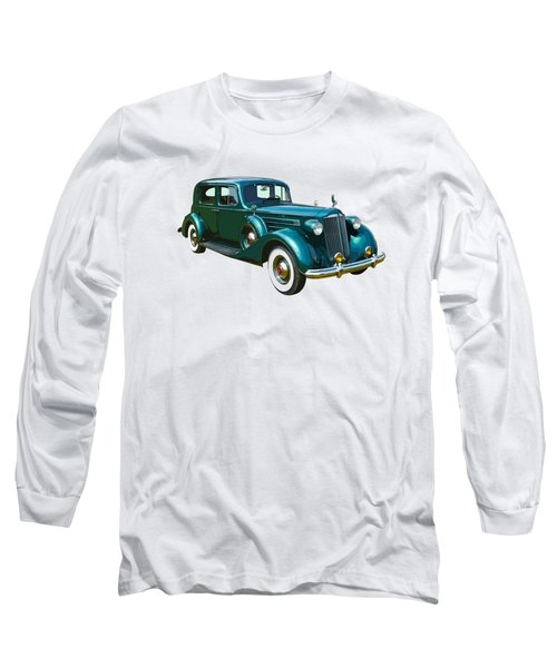 Classic Green Packard Luxury Automobile Long Sleeve T-Shirt by Keith Webber Jr