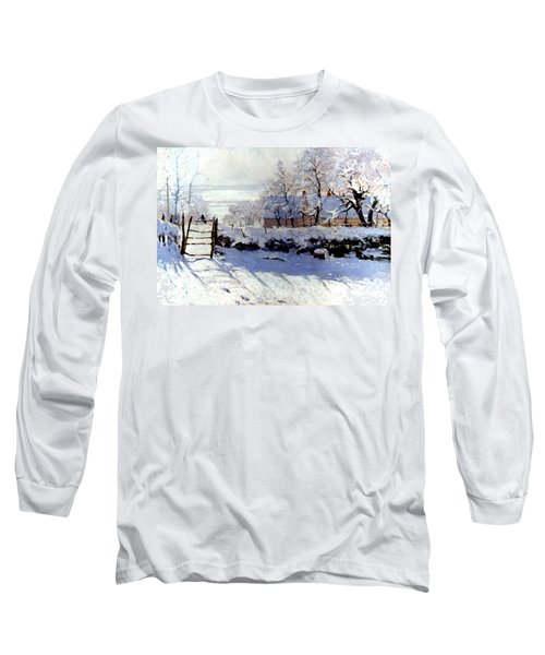 Claude Monet The Magpie - To License For Professional Use Visit Granger.com Long Sleeve T-Shirt