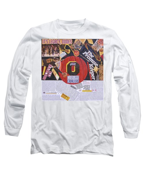 Long Sleeve T-Shirt featuring the painting Cleveland Cavaliers 2016 Champs by Colleen Taylor