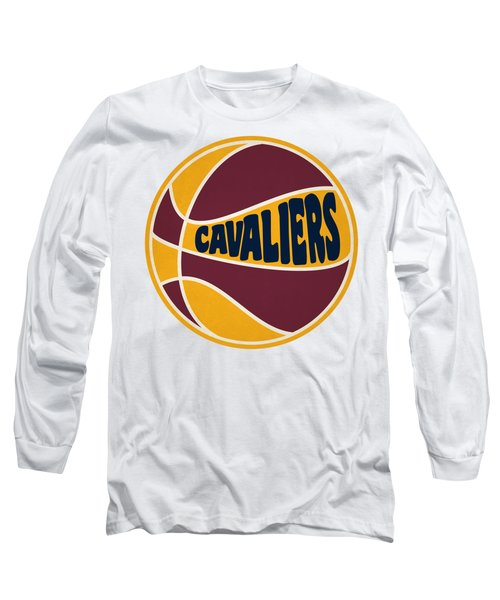 Long Sleeve T-Shirt featuring the photograph Cleveland Cavaliers Retro Shirt by Joe Hamilton