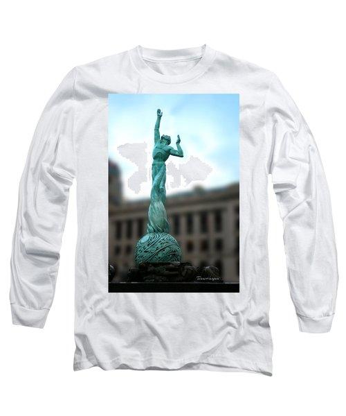 Cleveland War Memorial Fountain Long Sleeve T-Shirt