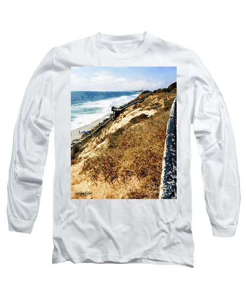 Cliff View - Carlsbad Ponto Beach Long Sleeve T-Shirt